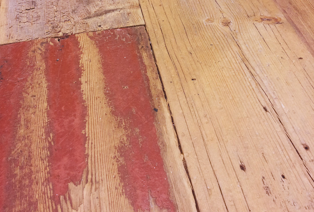 Sugar Pine Natural Distressed B Red But Paint No Finish