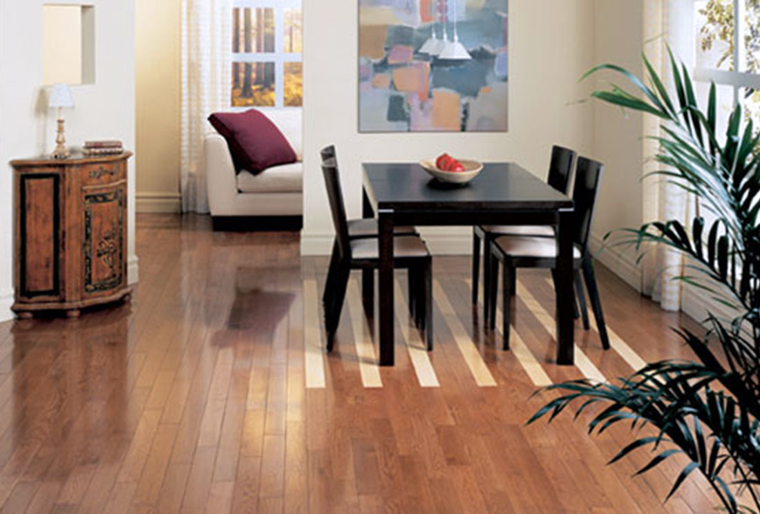 Deerbend White Oak With Maple Inlay Caramel Cream Stain